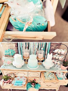 Vintage Rose + Little Birdie Themed Birthday Party
