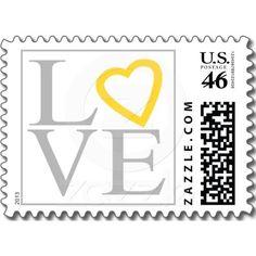 Yellow Save the Date Wedding Invitations Love Gray Yellow Heart Wedding RSVP Invitation Stamp Wedding Rsvp, Wedding Wishes, Dream Wedding, Wedding Ideas, Wedding Stuff, Wedding Invitations, Invites, Wedding Grey, Wedding Yellow