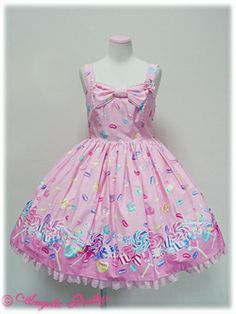 Angelic Pretty - Candy Treat Chest Ribbon JSK - Pink dresses i love i want this dress