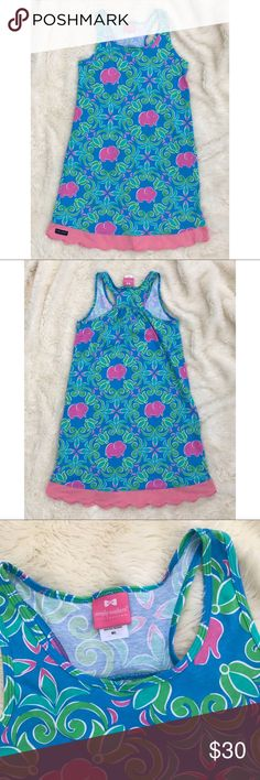 """Simply Southern Elephant Tank Dress Simply Southern elephant dress with pink scalloped hem and racerback. Excellent condition. 100% cotton. Length: 37"""". Bust: 16.5"""" across. Simply Southern Dresses"""