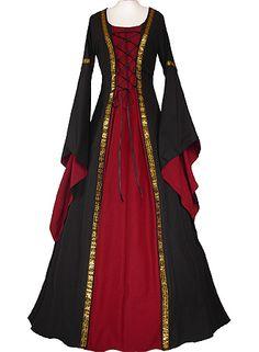 dornbluth.co.uk - medieval dresses Anna Black-Bordeaux