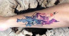 Vibrant Watercolor Tattoos by Koray Karagozler