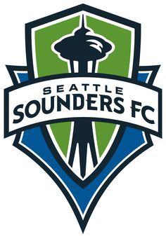 Yay for the Sounders! This is a nice emblem logo with some fun little details going on with the type white echo the sharp corners of the badge.