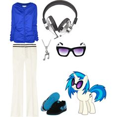 DJ Pon3's outfit, created by sheepfried on Polyvore