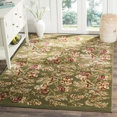 Shop for Safavieh Lyndhurst Traditional Floral Sage Rug (8' 11 x 12' RECTANGLE). Get free shipping at Overstock.com - Your Online Home Decor Outlet Store! Get 5% in rewards with Club O!