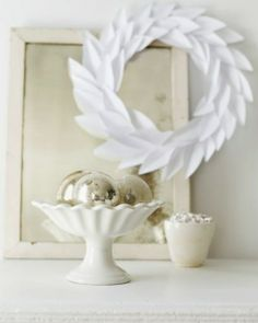 Paper Christmas Wreath (or basis for Any event/holiday) :   Great recipes and more at http://www.sweetpaulmag.com !! @sweetpaul