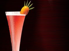 1 1/4 oz. Amaretto              2 oz. cranberry juice              Chilled KORBEL Brut                                Pour Amaretto and cranberry juice into a chilled champagne glass. Fill with champagne.          Garnish with an orange twist.