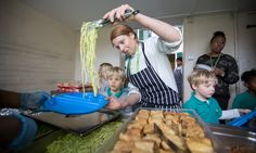 Former Ottolenghi chef Nicole Pisani serves lunch to pupils at serves at Gayhurst primary school in Hackney, east London. Couscous How To Cook, Panko Crumbs, Preserved Lemons, Weekday Meals, Ottolenghi, London Restaurants, Jamie Oliver, Fabulous Foods
