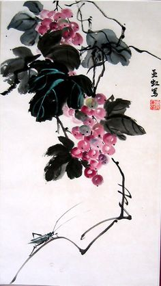 Image result for Chinese paintings grapes