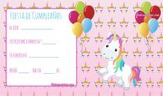 Candy Bar de Unicornios para Descargar e Imprimir Gratis | Todo Candy Bar Unicorn Birthday Parties, Birthday Party Invitations, Maria Jose, Bar, Ideas, Google, Diy And Crafts, Happy, Invitations