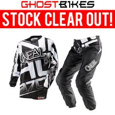 Oneal Element Kids 2014 Racewear Black-White Motocross Kit  Description: The Oneal Element Youth 2014 Racewear Black/White Motocross Kit       is packed with features..              Jersey Specification                      Breathable, moisture-wicking material – Absorbing sweat,         keeping you cool                    Sublimated graphics...  http://bikesdirect.org.uk/oneal-element-kids-2014-racewear-black-white-motocross-kit/