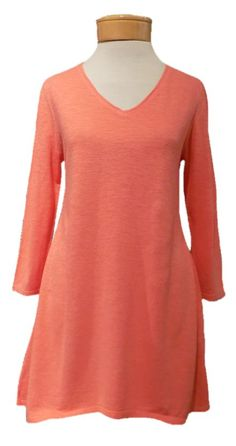 Spring Flora. The incredible Eileen Fisher Organic Cotton Hemp Twist V-Neck Tunic in Flora. Simply beautiful. xoxoxo http://www.melange4women.com/eifivtufl.html