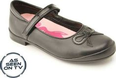 2e5a5c303fc36 Ruby, Black Leather/Patent Girls Riptape School Shoes - All Girls' styles - Girls  Shoes