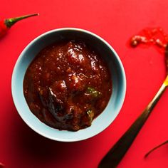 Nam Prik Pao Sauce - Thai chile dipping sauce. Great with sticky rice! #thai #chiles