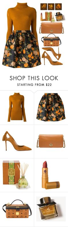 """""""Untitled #510"""" by jovana-p-com ❤ liked on Polyvore featuring Ann Demeulemeester, MSGM, Aquazzura, Tory Burch, Agraria, Lipstick Queen, MCM and Burberry"""