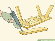 How to Build a Picnic Table. Whether you plan on sitting in the shade or having a picnic, having a sturdy table helps. Building a good table is relatively. Woodworking Techniques, Woodworking Plans, Build A Picnic Table, Picnic Tables, Indoor Firewood Rack, Ideas Terraza, Log Cabin Designs, Carriage Bolt, Table Frame