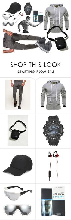 """Men"" by ladyscarlet01 ❤ liked on Polyvore featuring Superdry, JanSport, Armitron, Lacoste, Moncler, Issey Miyake, adidas, men's fashion and menswear"