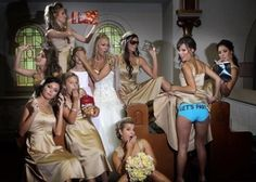 Hide the eyes of the flower girl pose. so funny