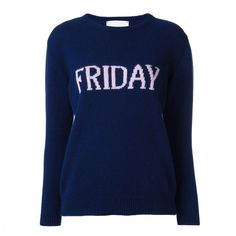 Alberta Ferretti's Days-of-the-Week Sweater Is Taking Over Instagram: ALBERTA FERRETTI Friday jumper. | Covetuer.com