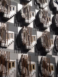 Scottish parliament building. Great facade...love those windows.