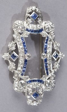 A Belle Epoque platinum, diamond and sapphire brooch, by Marcus & Co. Signed…