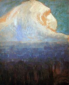 Mountain,1906 by Mikalojus Ciurlionis