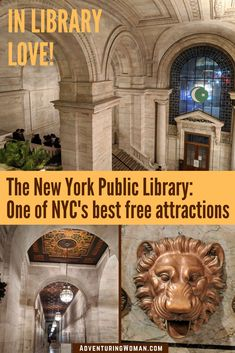 One of the best free atttractions in NYC, the New York Public Library is a masterpiece of Beaux-Arts architecture in midtown Manhattan. Click through to see its majestic interiors. You'll fall in love too! Canada Travel, Travel Usa, Travel Tips, Budget Travel, Travel Destinations, Travel Hacks, Travel Guides, New York City Travel, New York Public Library