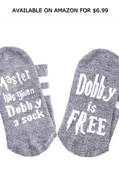 7db07f60d YSense Men s Women s Cotton Novelty Socks Master Has Given Dobby a Socks  Dobby is Free ◇
