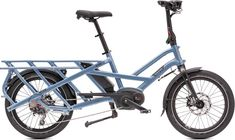 A city-ready utility e-bike made with families in mind, the Tern GSD electric bike can carry 2 kids or up to 400 lbs. of cargo, despite being the same length as a standard e-bike. Available at REI, Satisfaction Guaranteed. Child Bike Seat, Electric Utility, Folding Electric Bike, Cargo Bike, Bicycle, Bike Stuff, Silver, Blue, Families