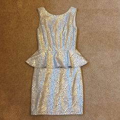 Silver Mini Dress Only worn once. B. Darlin Dresses Mini