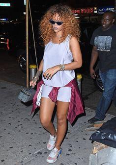 Rihanna partied in Adam Selman x Le Specs...