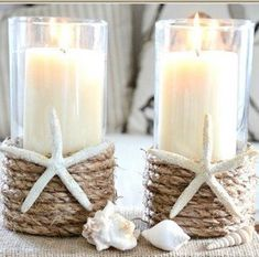 Add a beach vibe to your home with these coastal DIY home decor ideas. From seashell wall art to DIY sea glass, there are plenty of beach house decor ideas to choose from. There are DIY coastal decorations for your living room, bedroom, bathroom, dining room, porch and much more. Diy Home Decor Projects, Easy Home Decor, Cheap Home Decor, Decor Ideas, Best Kitchen Designs, Summer Diy, Home And Deco, Beach House Decor, Beach Houses