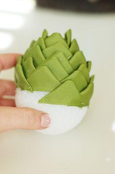 Ribbon pine cones