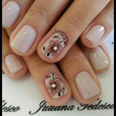 Cute Nails, My Nails, Pastel Pink Nails, Manicure, Short Square Nails, School Nails, Floral Nail Art, Nail Envy, Rainbow Nails