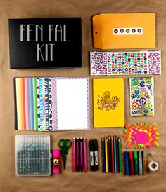 Pen Pal Kit - what a great idea for someone you don't see often...