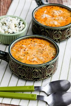 If you're longing for spring but the weather is still saying winter, this Instant Pot Low-Carb Buffalo Chicken Soup with Crumbled Blue Cheese can warm up your tummy! We loved this tasty soup, and it's low-carb, Keto, low-glycemic, and gluten-free. Use the Diet-Type Index to find more recipes like this one! Click to PIN Instant Pot Low-Carb…
