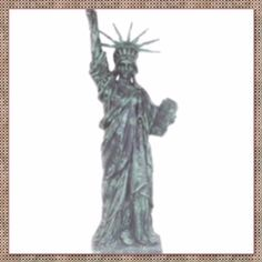 baf23911c8ba89 Light Life Like Statue of Liberty is Handcrafted from Resin and Measures  Approx. 18