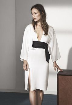 H&M Conscious Collection Lookbook para Primavera 2015 - vestido branco