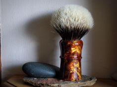 Large Shaving Brush  Burnt Butterscotch Pearl by LoveYourShave