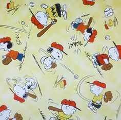 Peanuts All Stars Yellow~Cotton Fabric, by Quilting Treasures, Fast Shipping CH230