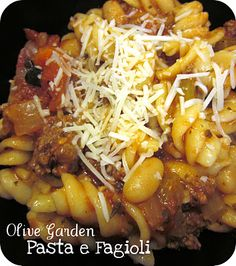 Olive Garden Fagioli- converts to how many people you need to serve! Very helpful!