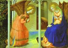 95kb jpg detail from 'Annunciation of the Blessed Virgin Mary' by Fra Angelico