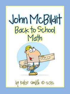 I Want to be a Super Teacher: Back to School Math Freebie - John McBildit
