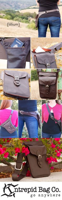 Lillium leather side purse by Intrepid Bag Co. Available now! http://www.intrepidbags.com