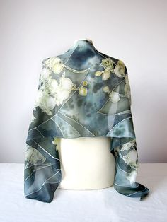 Silk scarf Lily of the Valley in Art Nouveau style by Luiza Malinowska MinkuLuL Hand painted on natural silk Habotai Light. On ETSY: Silk scarf Lilies of the Valley by Luiza Malinowska MinkuLuL On Etsy: https://www.etsy.com/listing/223594492/silk-scarf-lily-of-the-valley-may-lily?ref=shop_home_active_13