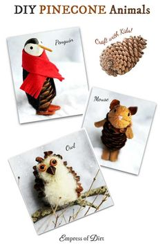 DIY Pinecone Animals | Nature Craft
