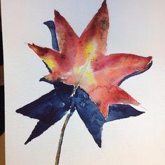 Autum leaves #watercolor #artstudent #instartist #art #learnfromlobenberg @davidlobenberg