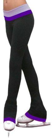 Amazon.com: Ice Skating Stretch Polyester Spandex Reversible 2 Tones Pants w/ Color Cuff , Adult Extra Small, Purple/Violet: Clothing