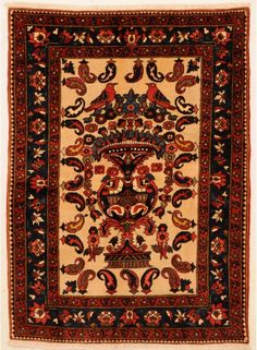 Bakhtyari Rug 3'6″ x 4'9″ 1