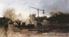 Watering, 1869 - Mihaly Munkacsy